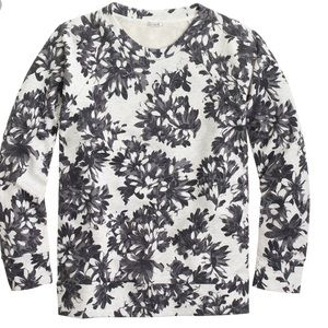 J. Crew Photo Floral Sweatshirt